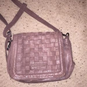 liebeskind real leather brown purse